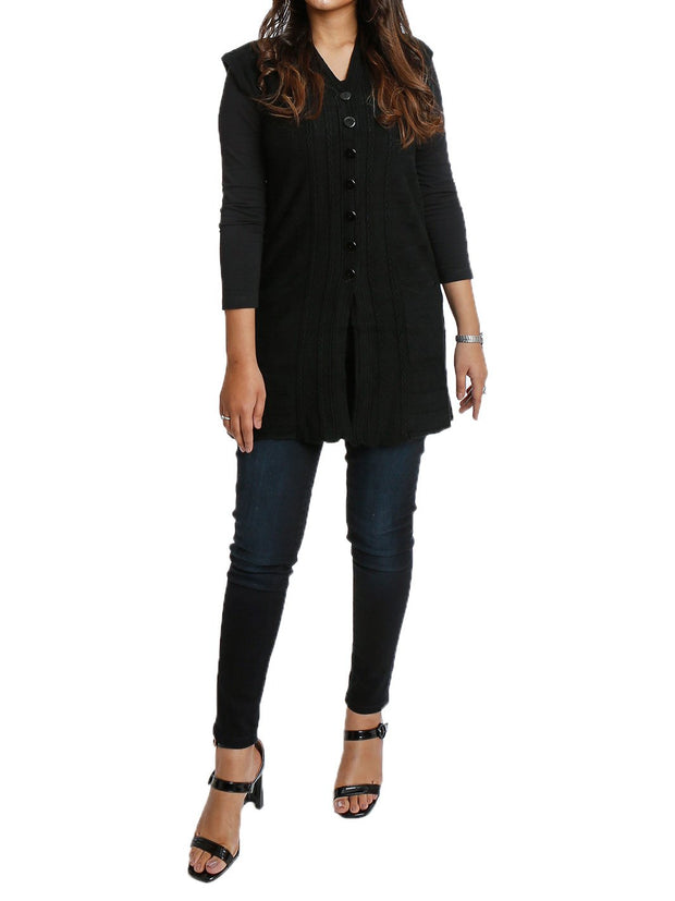 Long Cardigan Long Sleeve Button Down