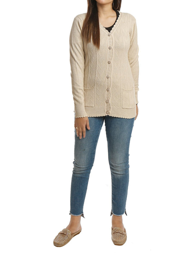 Short Cardigan Long Sleeve Button Down