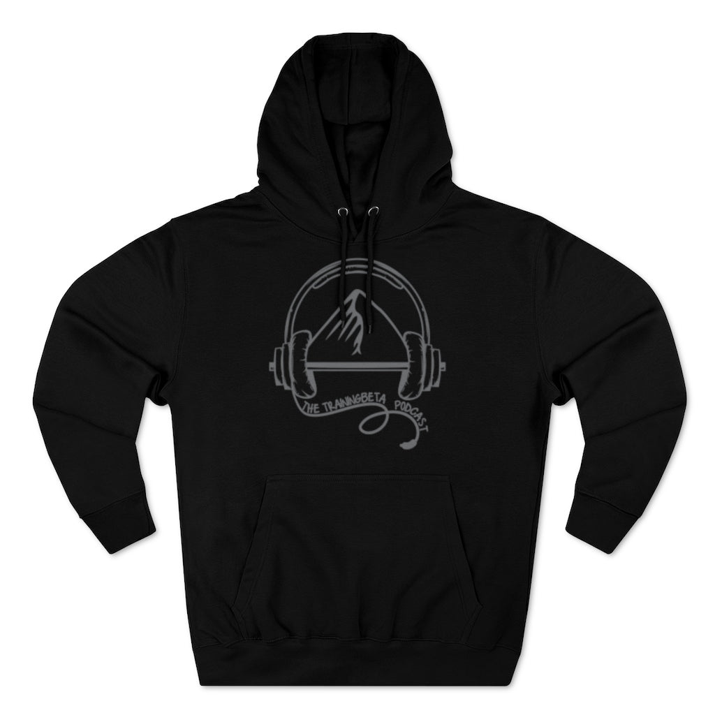 TrainingBeta Podcast Pullover Hoodie in Black