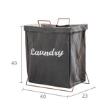 Mafulus Home Fabric Iron Frame Storage Laundry Basket