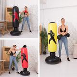 Mafulus 63inch Inflatable Kids Punching Bag-Free Standing Boxing Bag,Inflatable Punching Bag for Adults and Kids,Free Standing Boxing Toy Youth Boxing Bag