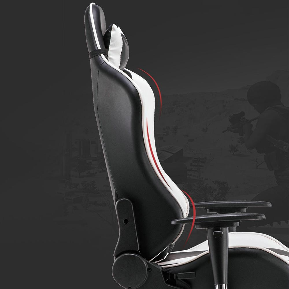 Mafulus Gaming Chair Office Chair High Back Computer Chair PU Leather Desk Chair PC Racing Executive Ergonomic Adjustable Swivel Task Chair with Headrest and Lumbar Support