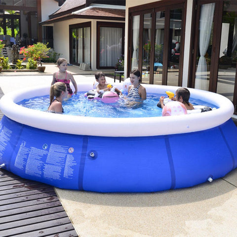Mafulus Outdoor Inflatable Swimming Pool Anti-exposure Anti-crack Round Family Water Park Pool for Children Adults