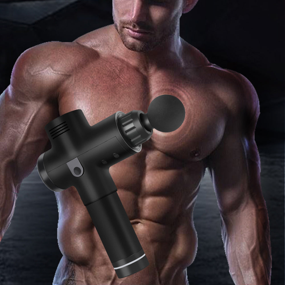 Mafulus Massage Gun – Deep Tissue Handheld Percussion Massager – Six Different Heads for Different Muscle Groups - 30 Speed Options