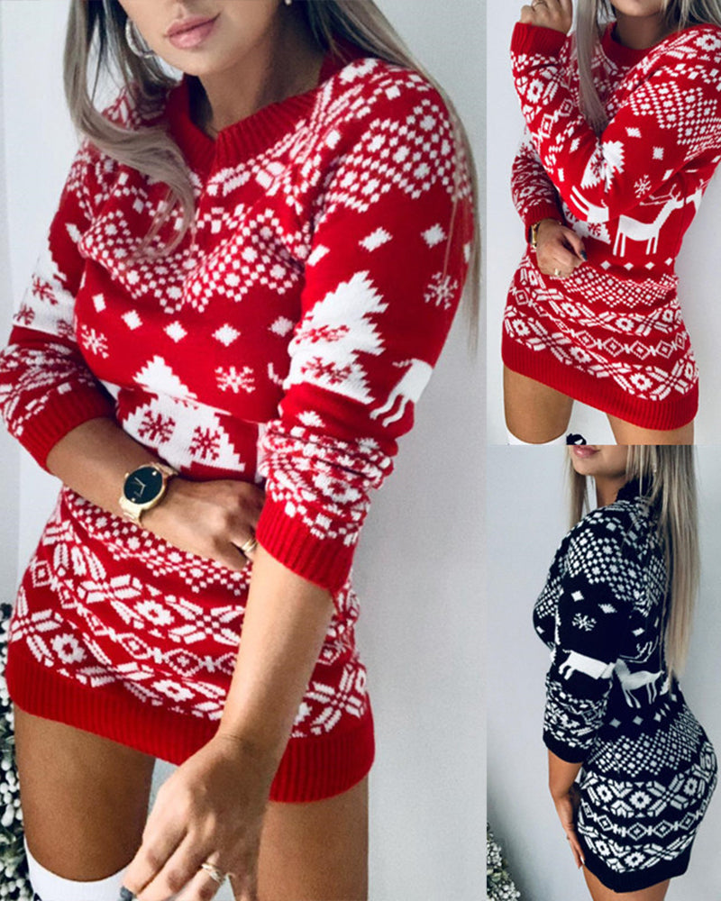 Mafulus Womens Ugly Sweater Dress Christmas Gifts for Girlfriend Mom