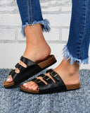 Mafulus Florida Footbed Birko-Flor Sandals Three-Strap Slides
