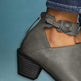 Pointed Toe Booties with Buckled Ankle Strap