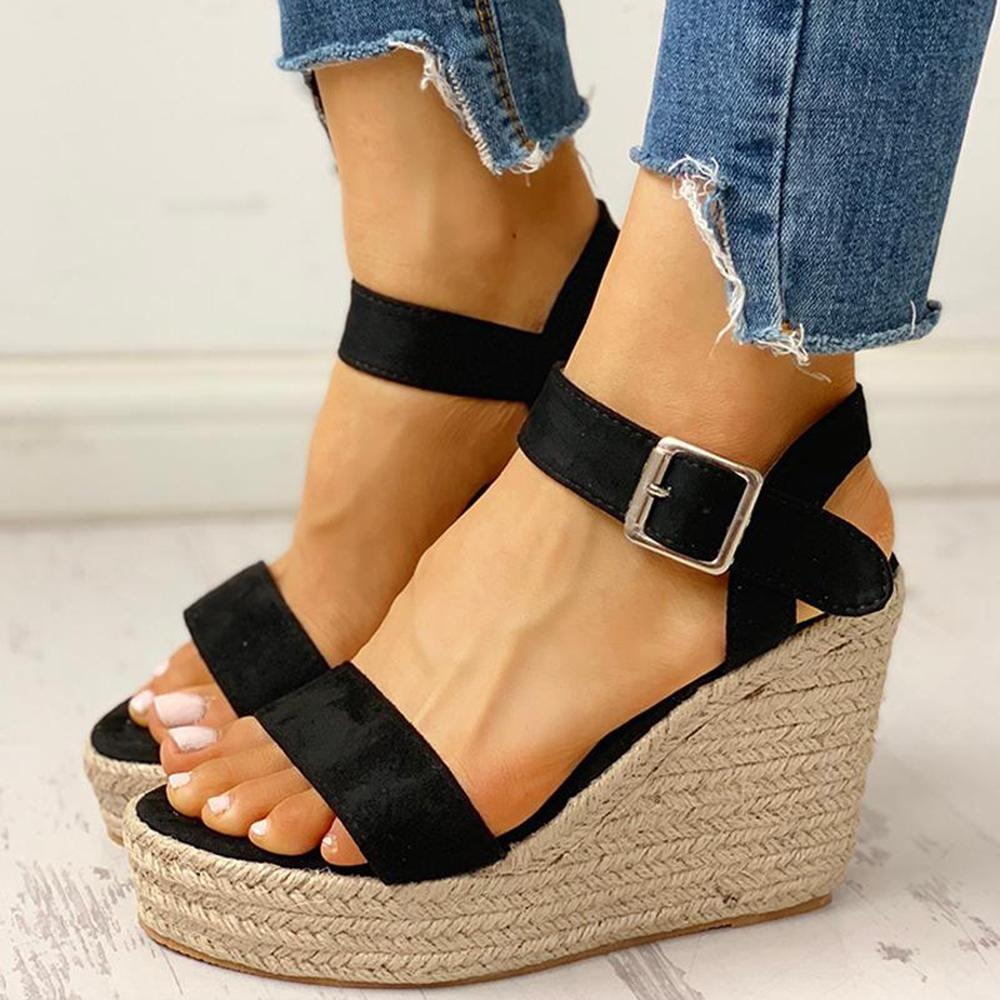 Mafulus Wedge Casual Buckle Summer Sandals