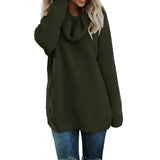 Mafulus Chunky Turtleneck Knit Oversized Pullover Sweater