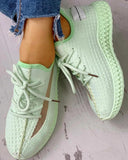 Mafulus Colorblock Breathable Lace-up Comfy Sneakers