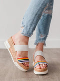 Mafulus Slip-on Wedge Sandal Cork Platform Slides