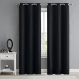 Mafulus Room Darkening Thermal Insulated Blackout Grommet Window Curtain for Living Room