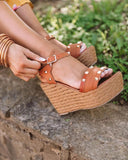 Mafulus Womens Platform Wedge Espadrilles Ankle Strap Open Toe Sandals