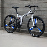 Mafulus 26inch Mountain Bike Folding Bicycle Adult Bike Men's and Women's