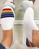 Mafulus Womens Rainbow Slip on Flats Loafer Shoes