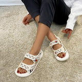 Mafulus Womens Double Strap Open Toe Cartoon Comfort Sandals