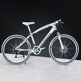 "Mafulus Mountain Bicycles 26"" Front Suspension Ravine Dual Disc Brake Carbon Steel Frame Bike"