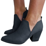 Mafulus Pointed Toe Cut-out Ankle Boots