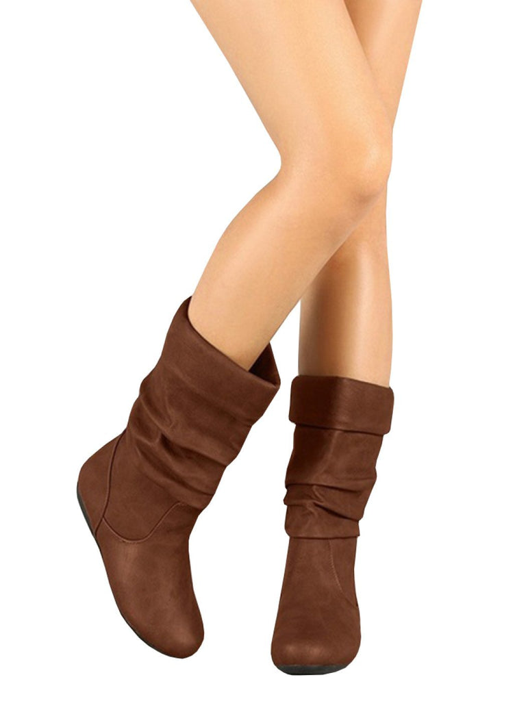 slouch boots for women brown