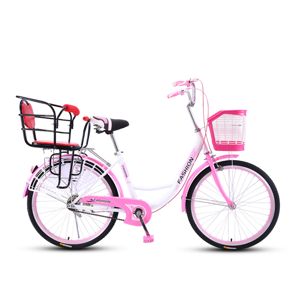 Mafulus 24-26 Inch Bicycle Women Adult Light Ordinary Adult Lady Commuter Bike with Baby Seat