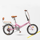 Mafulus 20 Inch Foldable Bicycle Adult Bicycle Ladies Bike High Carbon Steel Frame Student Bike Gift Car