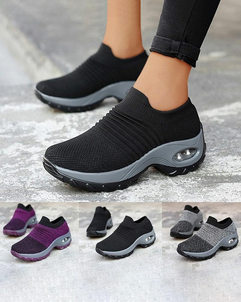 Mafulus Womens Slip On Mesh Lightweight Air Cushion Sock Sneakers