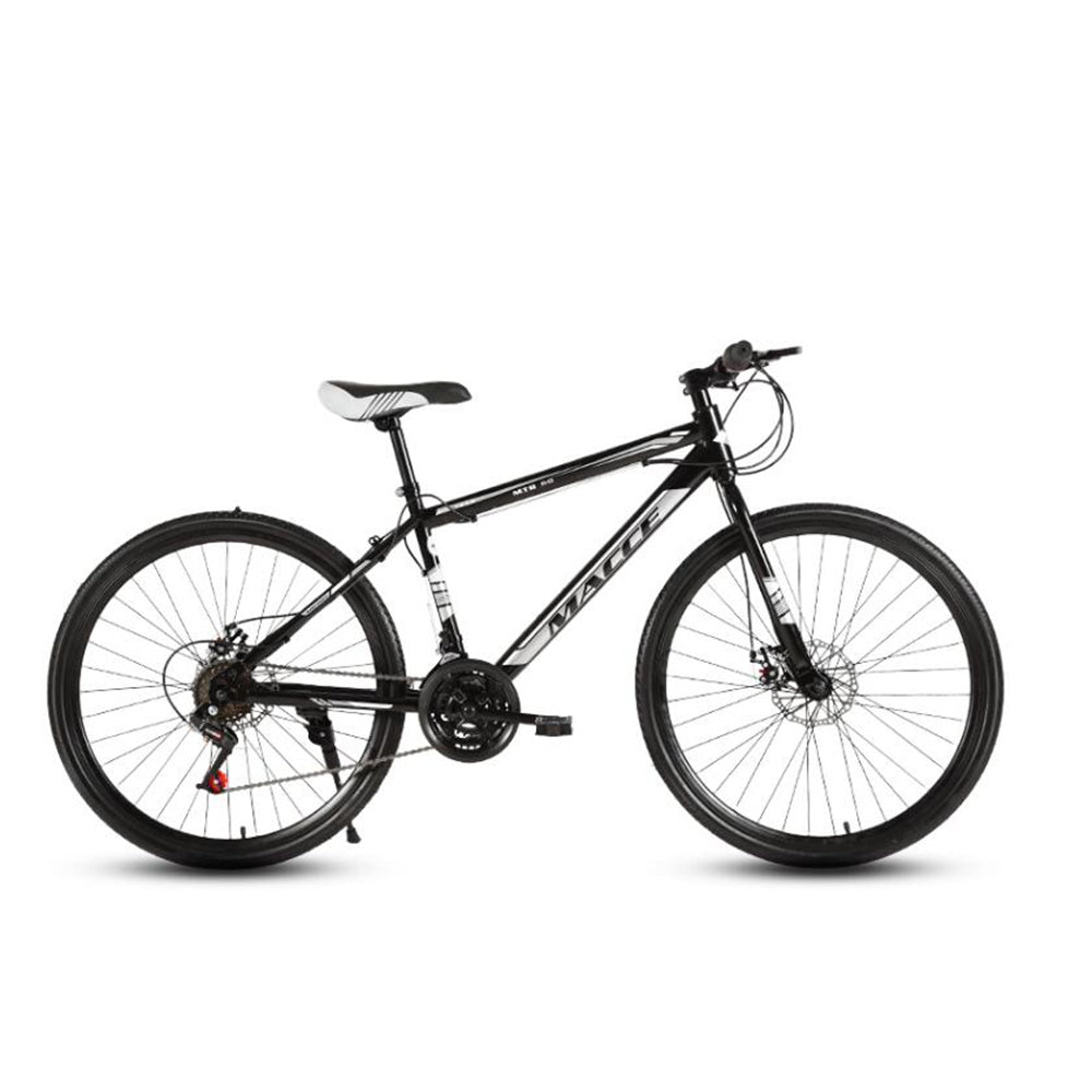 Mafulus Adult Mountain Bikes 24/26 Inch Mountain Trail Bike High Carbon Steel Full Suspension Frame Bicycles 21/24/27 Speed Gears Dual Disc Brakes Mountain Bicycle