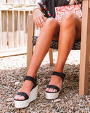 Mafulus Women's Espadrilles Wedge Buckle Ankle Strap Open Toe Sandals