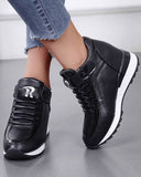 Mafulus Women Hidden Heel Velcro Fashion Casual Sneakers