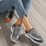 Mafulus Womens Mesh Breathable Colorblock Lace-up Comfy Sneakers