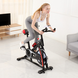 Mafulus Indoor Cycling Spin Bike with Flywheel, Quiet & Comfortable Stationary Exercise Spinning Bike for Home Cardio Workout & Fitness with Adjustable Resistance & Seat