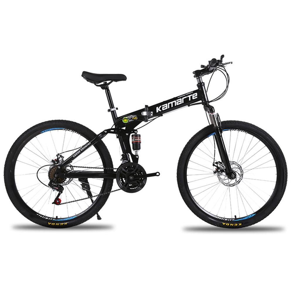 Mafulus Dual Disc Brakes Shock Speed Mountain Bike Folding Bicycle 26 inch
