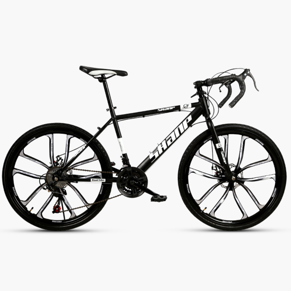 Mafulus 27 Speed Road Bike for Men and Women Urban City Commuter Dual Disc Brake Fitness Bike