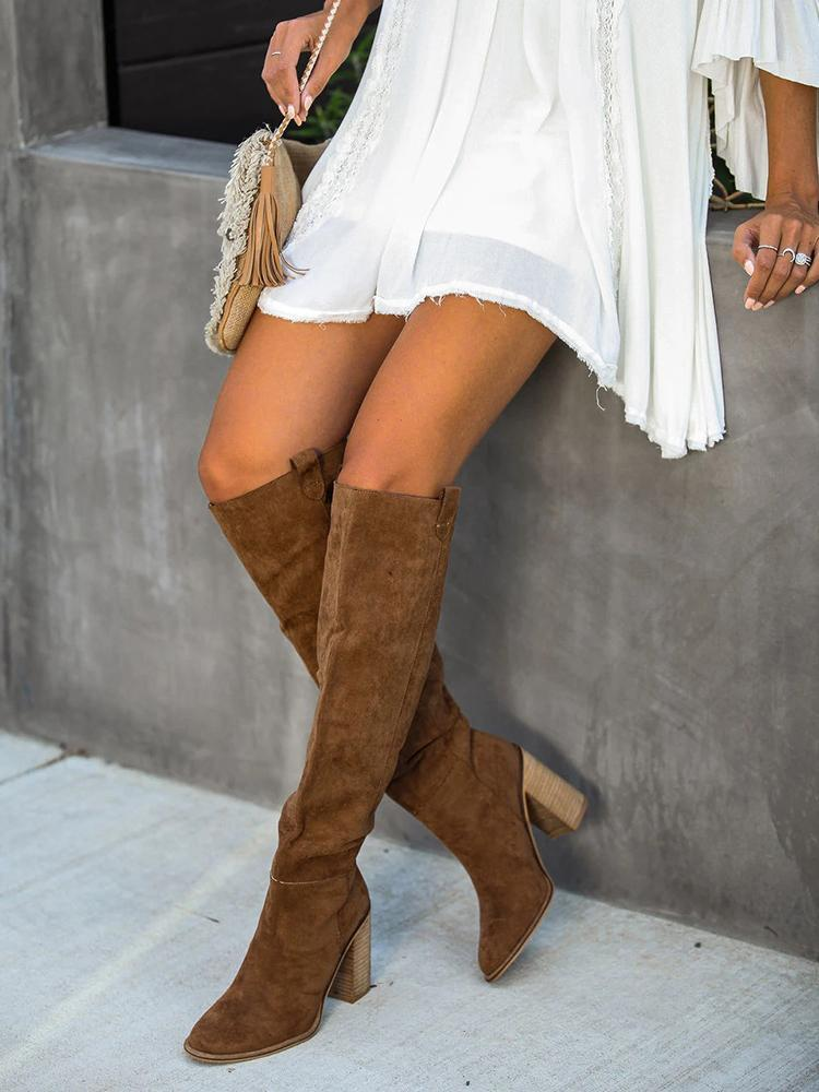 Mafulus Thigh High Boots Over The Knee Boots