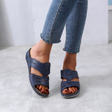 Mafulus Womens Open Toe Slingback Summer Casual Flat Sandals