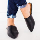 Mafulus Flat Mules Loafer Backless Slides