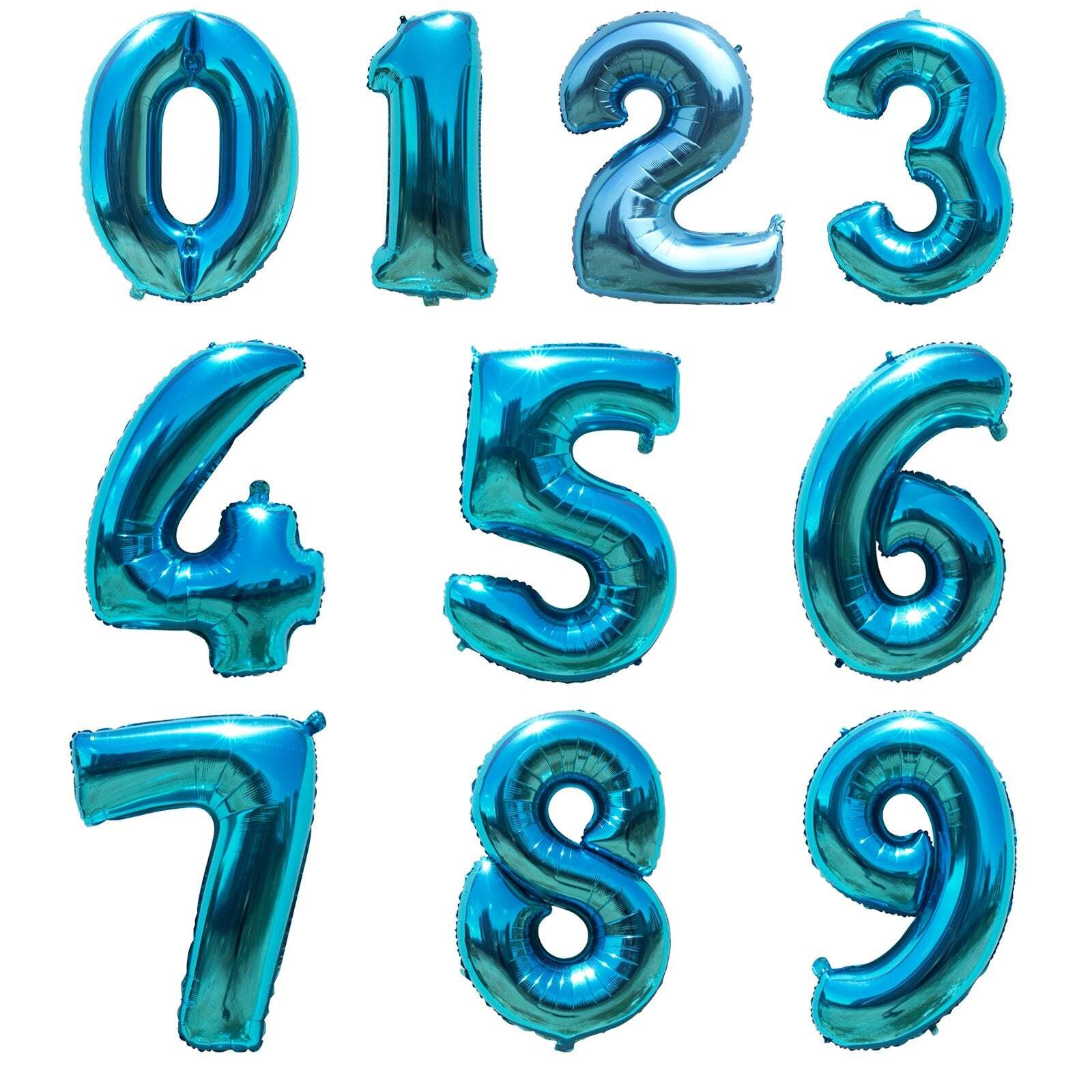 """40/"""" Giant Foil Number Balloon Air//Helium Birthday Wedding Anniversary 6 COLOURS"""