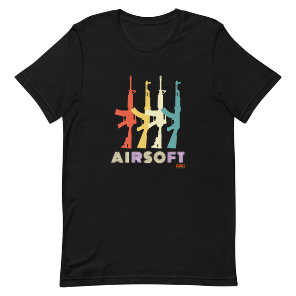 Airsoft AK vs M4 Retro Design Shirt