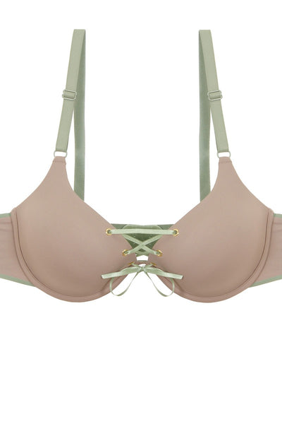 Ladies two tone tie up bra-SamiraBoutique