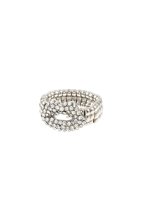 Rhinestone Lip Stretch Ring-SamiraBoutique