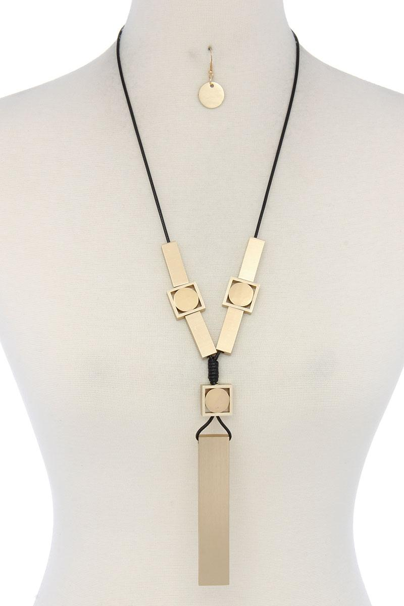 Modern Geometric Shape Necklace-SamiraBoutique