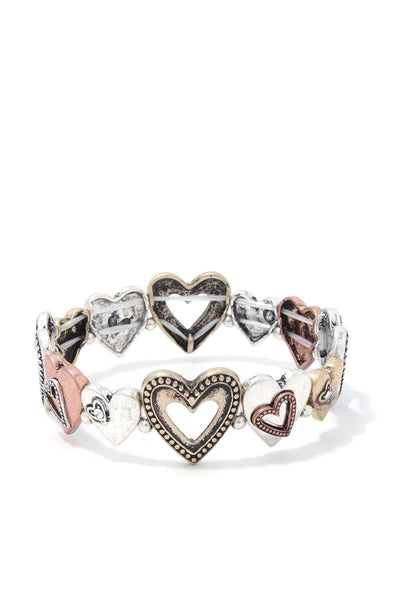 Heart Shape Stretch Bracelet-SamiraBoutique