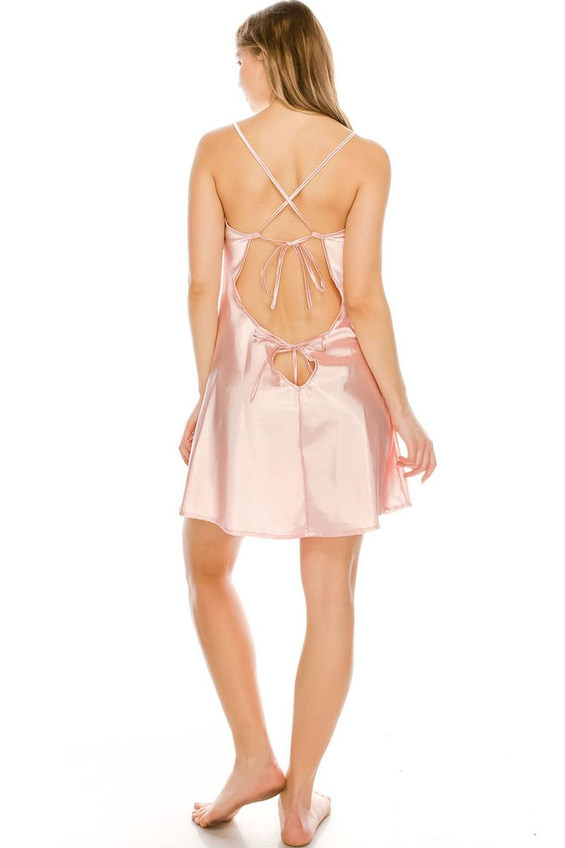 Satin Dress And Thong Set-SamiraBoutique