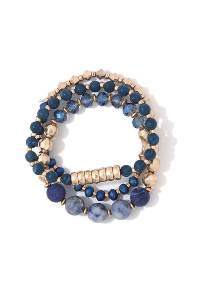 Multi Beaded Stretch Bracelet Set-SamiraBoutique