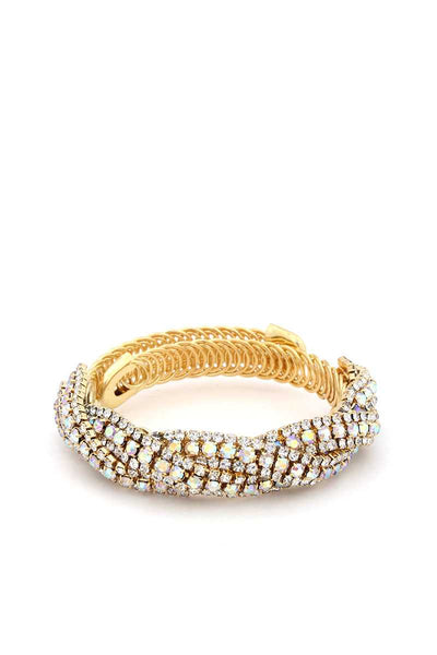 Flexible Rhinestone Metal Bracelet-SamiraBoutique