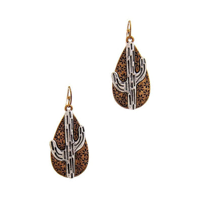 Chic Tear Drop Cactus Dangle Earring-SamiraBoutique