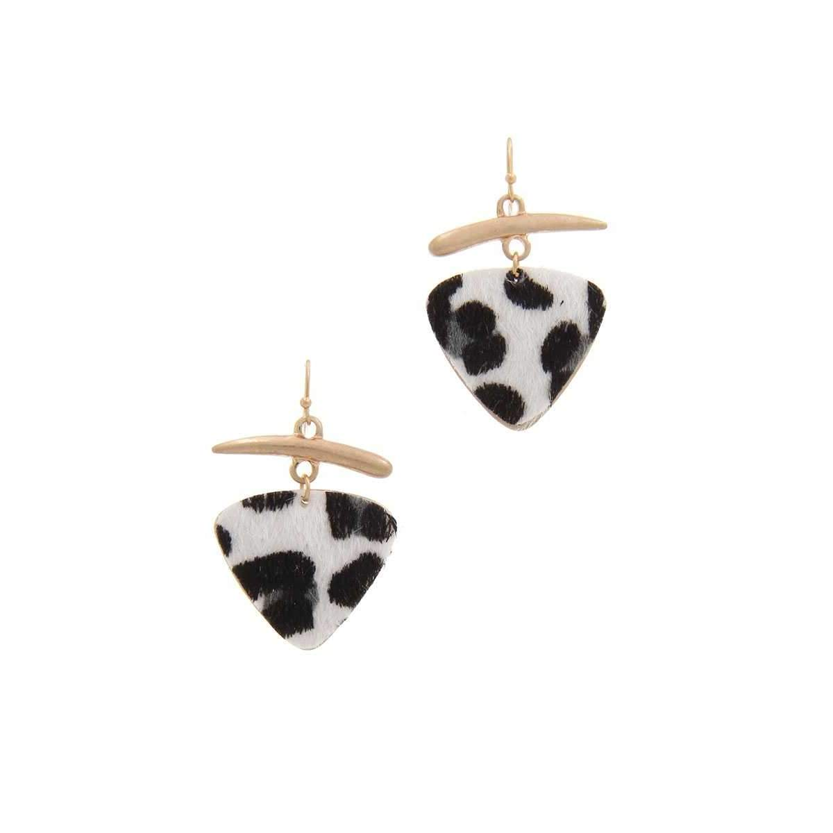 Animal Print Drop Earring-SamiraBoutique