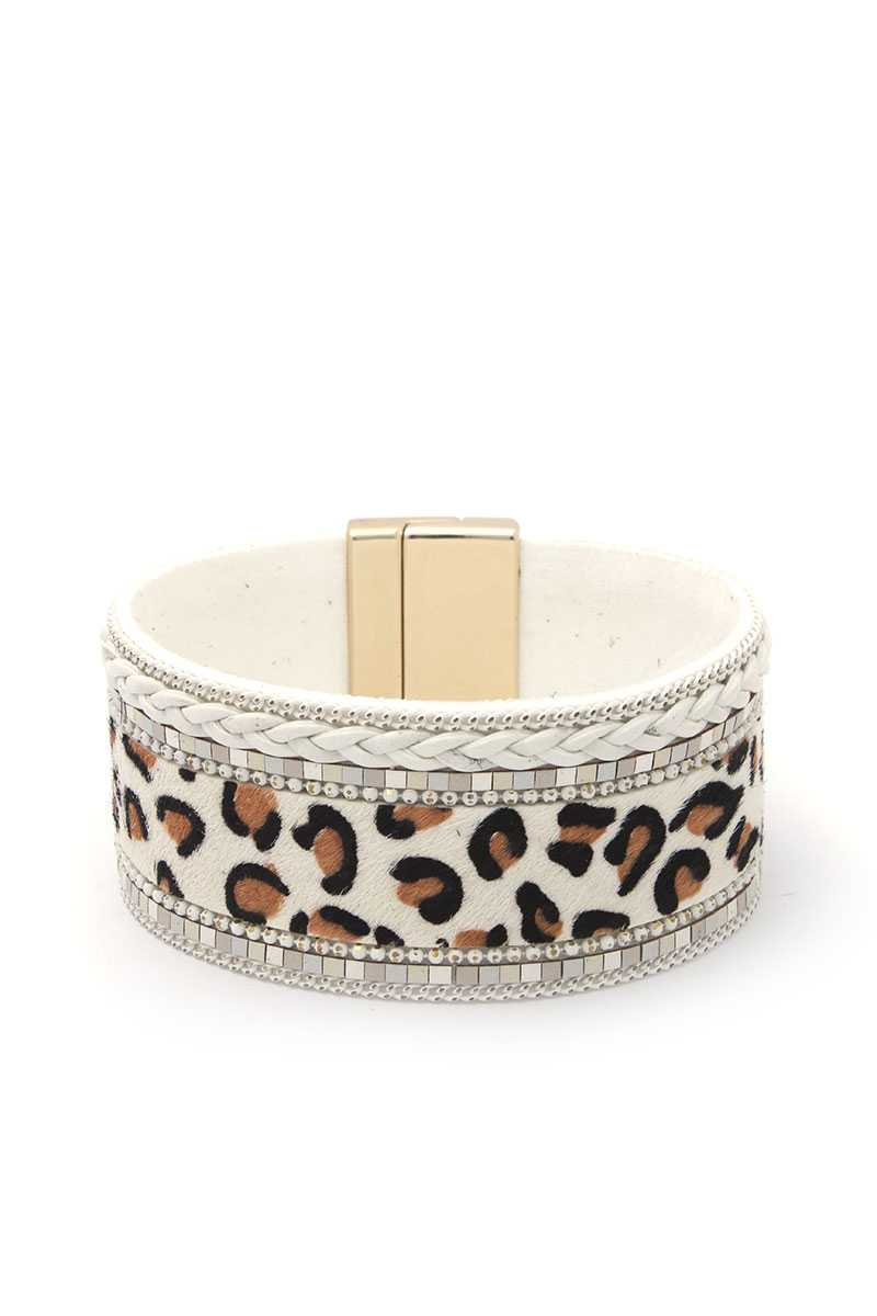 Animal Print Magnetic Bracelet-SamiraBoutique