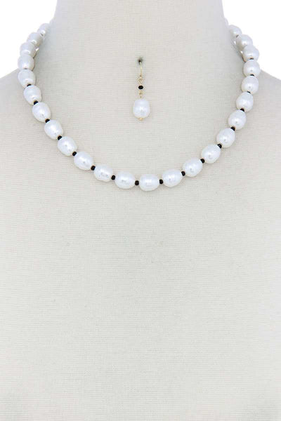 Pearl Bead Necklace-SamiraBoutique