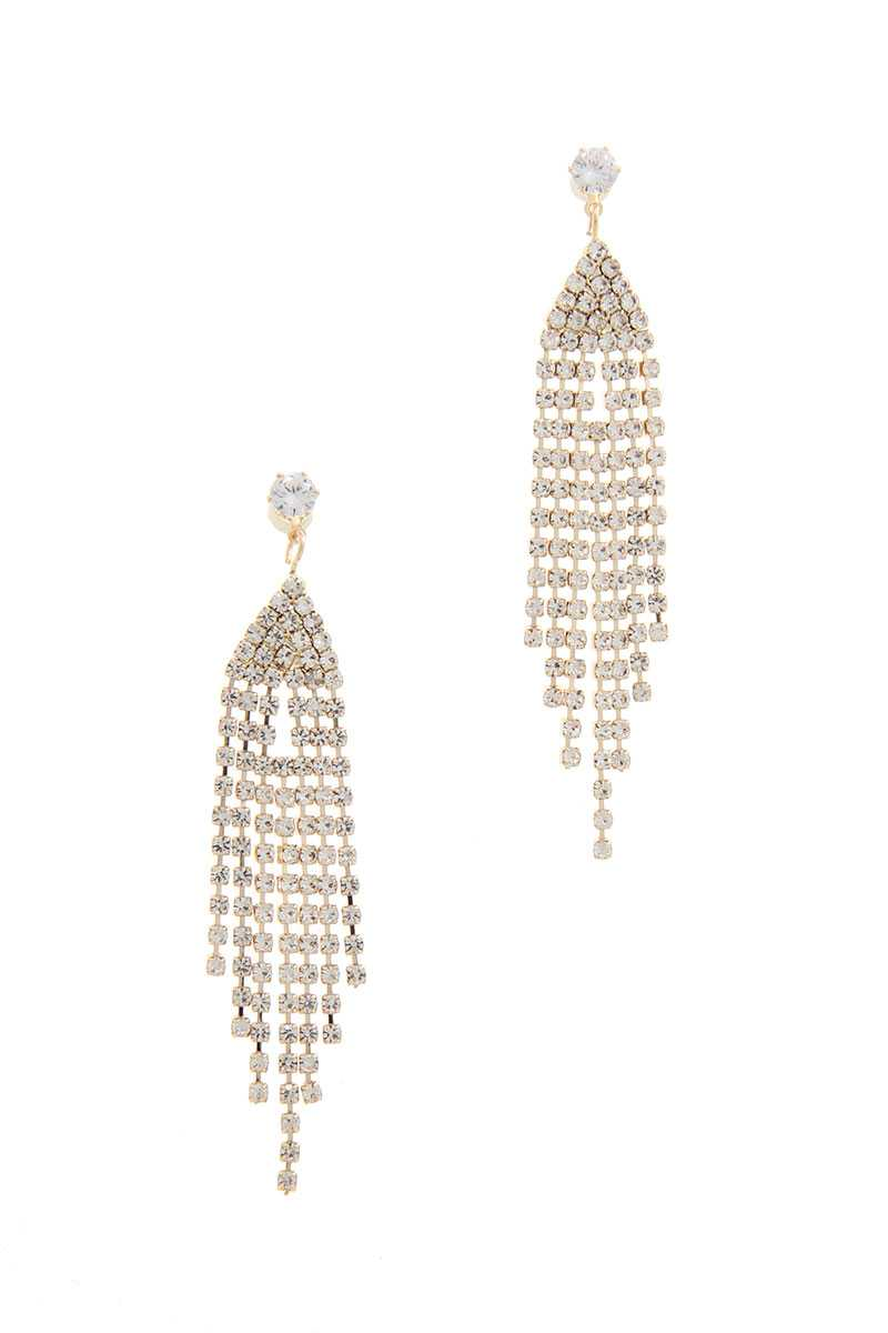 Rhinestone Drop Earring-SamiraBoutique